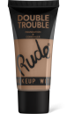 Rude Cosmetics, Double Trouble Foundation + Concealer Tan, makeup