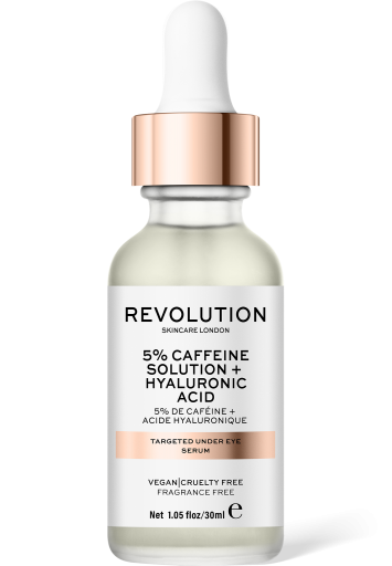 Revolution Skincare, Targeted Under Eye Serum - 5% Caffeine Solution + Hyaluronic Acid Serum, oční sérum