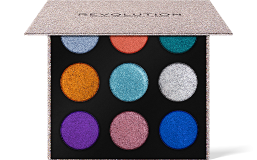 Revolution, Pressed Glitter Palette Illusion, třpytky