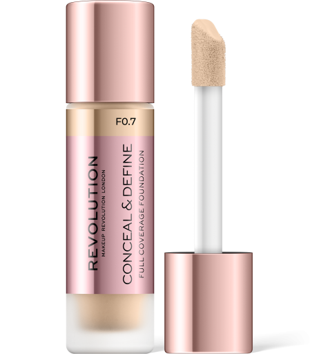 Revolution, Conceal & Define F0.7, makeup