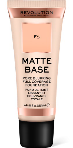 Revolution, Matte Base F5, makeup
