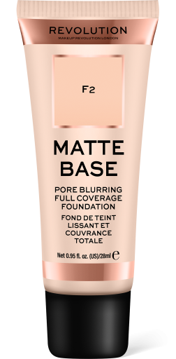 Revolution, Matte Base F2, makeup