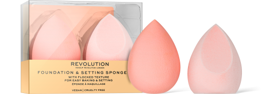 Revolution, Conceal & Fix Setting Sponges, houbička na makeup