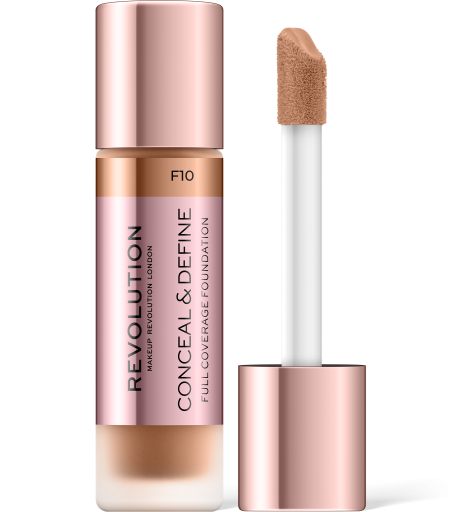 Revolution, Conceal & Define F10, makeup