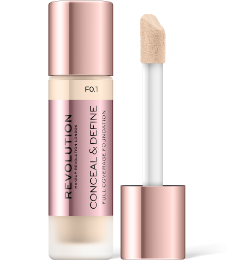 Revolution, Conceal & Define F0.1, makeup