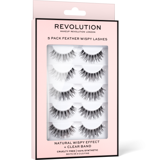 Revolution, 5 Pack Feather Wispy, řasy