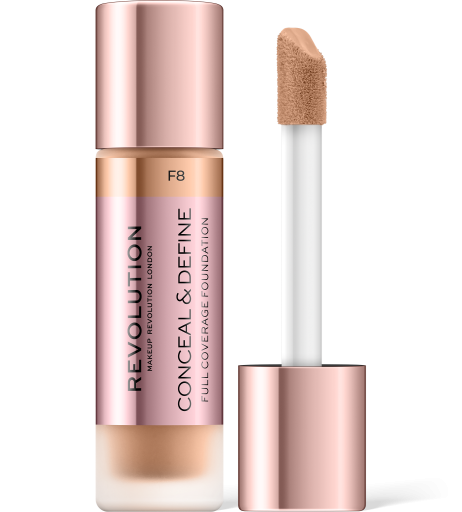 Revolution, Conceal & Define F8, makeup