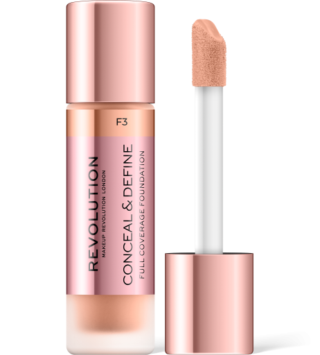 Revolution, Conceal & Define F3, makeup
