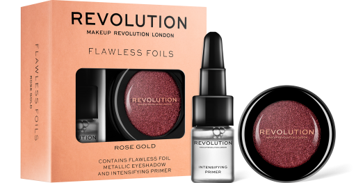 Revolution, Flawless Foils Rose Gold, oční stín