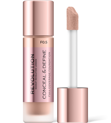 Revolution, Conceal & Define F0.5, makeup