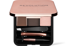 Revolution, Brow Sculpt Kit Dark, sada na úpravu obočí
