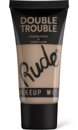 Rude Cosmetics, Double Trouble Foundation + Concealer Fair, makeup