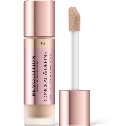 Revolution, Conceal & Define F2, makeup