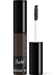 Rude Cosmetics, Eyebrow Mascara Choco Brown, fixační gel na obočí