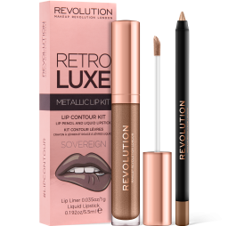 Revolution, Retro Luxe Kits Metallic Sovereign, sada na rty