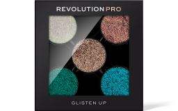 Revolution PRO, Glitter Eyeshadow Pack Glisten UP, sada refillů