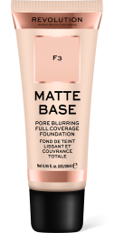 Revolution, Matte Base F3, makeup