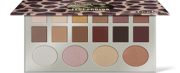 Rude Cosmetics, Leopardina 12 Eyeshadow + 4 Highlighter, paletka