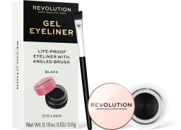 Revolution, Gel Eyeliner Pot With Brush, oční linka