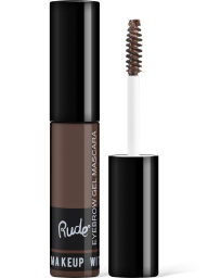 Rude Cosmetics, Eyebrow Mascara Natural Brown, fixační gel na obočí