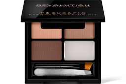Revolution, Focus & Fix Brow Kit Light Medium, sada na úpravu obočí